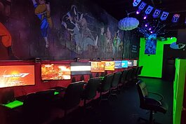Playa Vs. Playa Gaming Lounge features gaming consoles that appeal to a range of generations, from the original Atari system to the highly coveted PS5.
