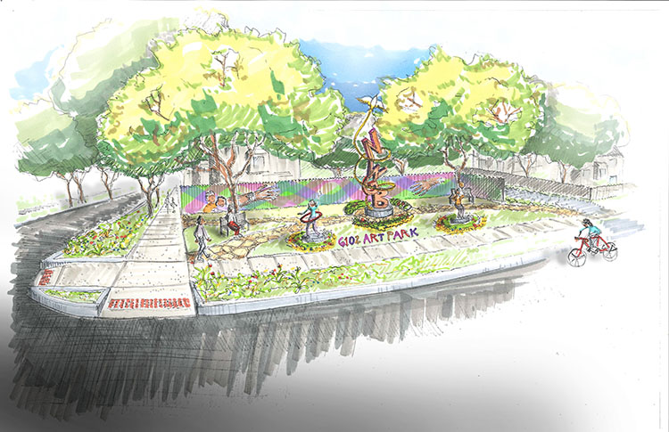 A rendering of 6102. Art Park.