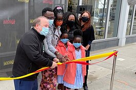 Baobab Fare was celebrated with a ribbon cutting ceremony on Thursday, April 1.