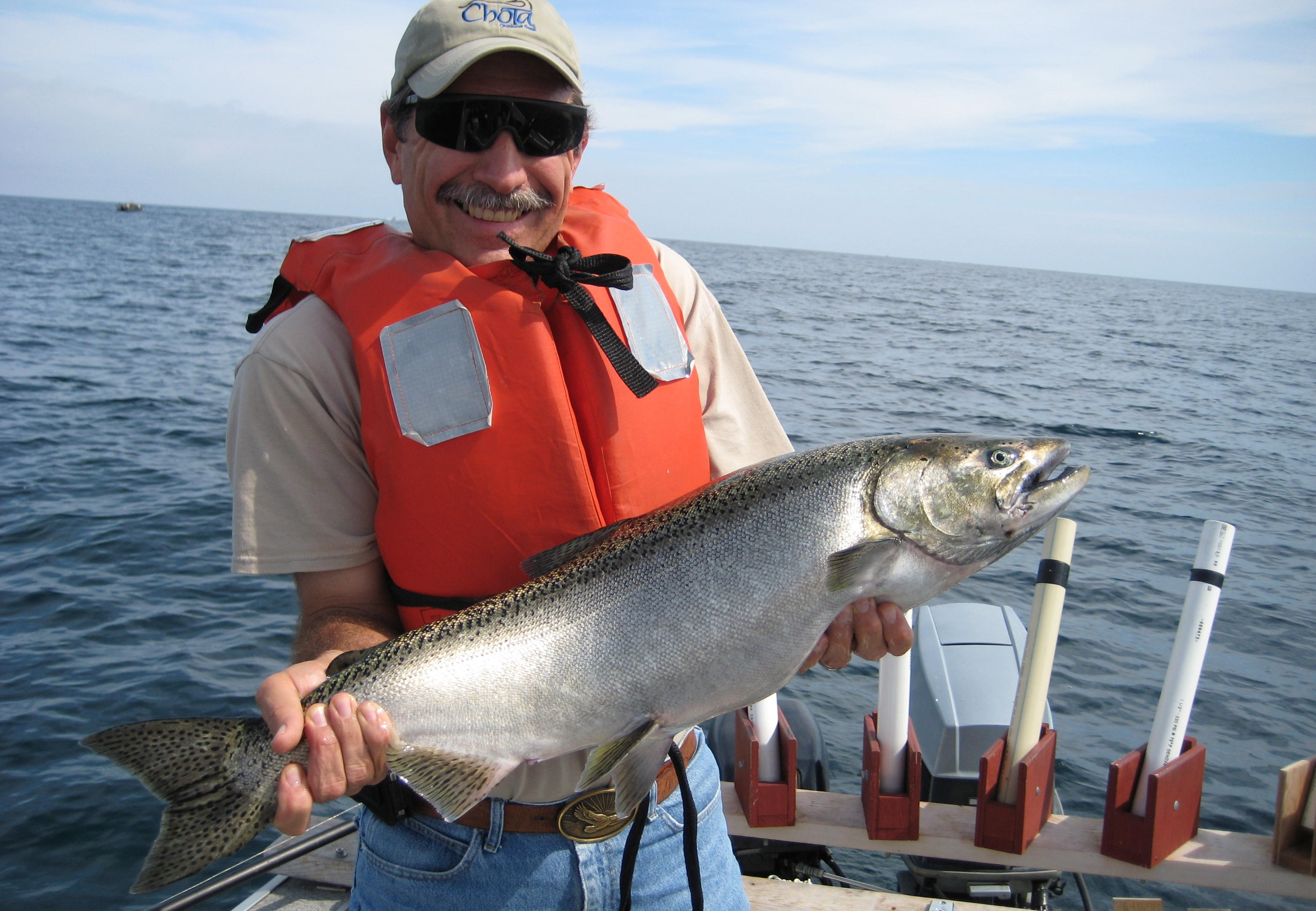 Chinook salmon are non-native to Michigan, but bring benefits to the state.