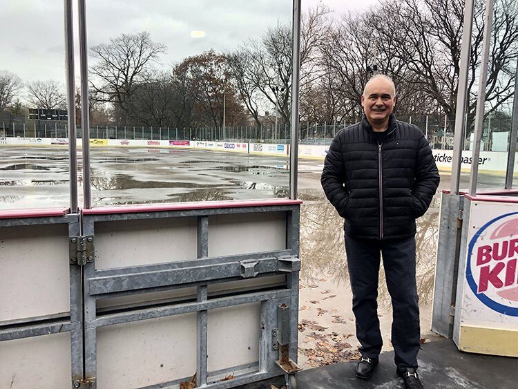 """If your mom gave you a buck to go, you had your skates and a cup of chocolate that day. Those were good times, a lot of fun. And this place was packed with kids from the neighborhood,"" recalls Clark Park Coalition Director Anthony Benavides."