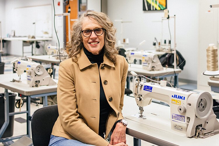 Jennifer Guarino has worked in fashion manufacturing for 30 years and is now CEO and chair of the Industrial Sewing and Innovation Center in Detroit.