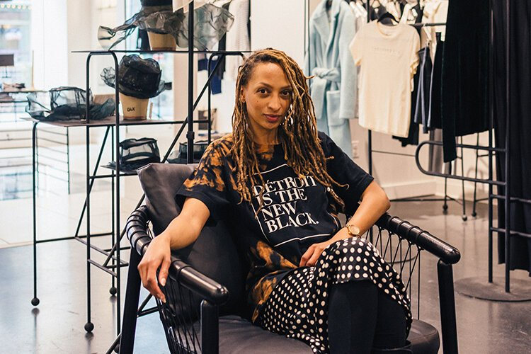 Roslyn Karamoko challenged shifting consumer trends favoring online shopping and opened Détroit is the New Black on Woodward Avenue in 2016.