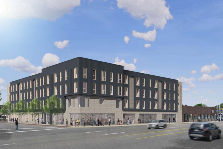 Named after the church's longtime leader, all 60 units at the Jim Holley Residences will be affordable, and the new-construction building will feature 5,000 square feet of commercial space.