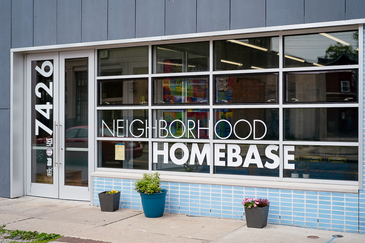 HomeBase provides neighborhood residents and the staff headquartered there with 4,000 square feet of flexible office and meeting space.