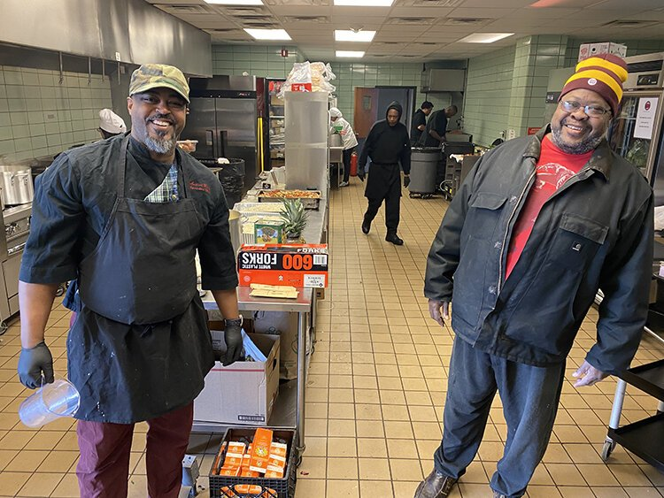 Chefs Maxcel Hardy and Phil Jones are part of the culinary collective working to feed the homeless.
