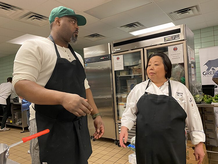 Chefs Maxcel Hardy and Genevieve Vang are part of the culinary collective cooking meals for the homeless.
