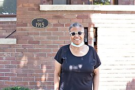 Sandra Cavette is proud of her historical home and wants to see others investing in the upkeep of Detroit properties.