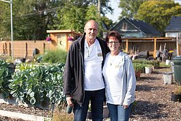 Joe and Barb Matney are the couple behind the In Memory Of Community Garden in Warrendale.