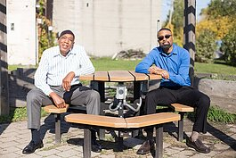 Karanja Famodou, left, and Ali Dirul are the co-founders of energy solutions business, Ryter Cooperative Industries.