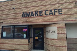 AWAKE Café  is located near the corner of 3rd Avenue and Willis Street.