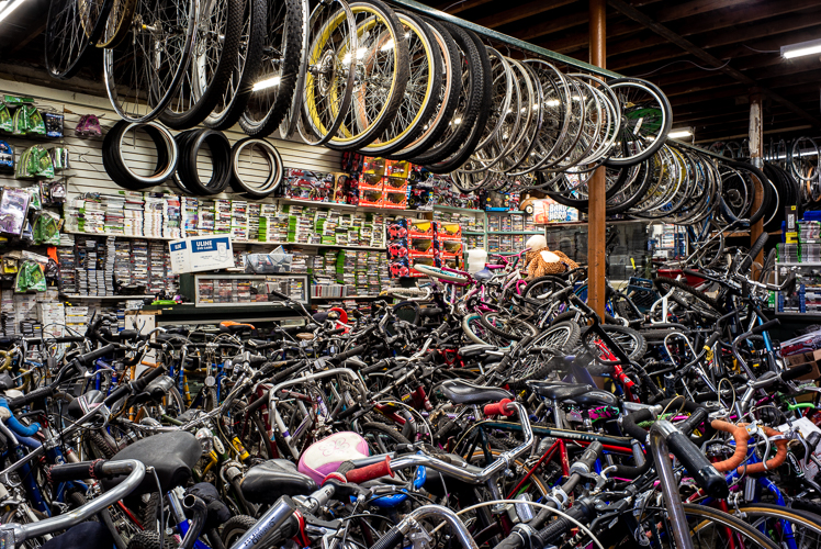 Livernois Bike Shop has nearly every kind of bike part you can imagine.