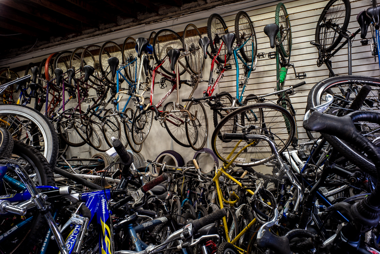 No shortage of bikes at Livernois Bike Shop.
