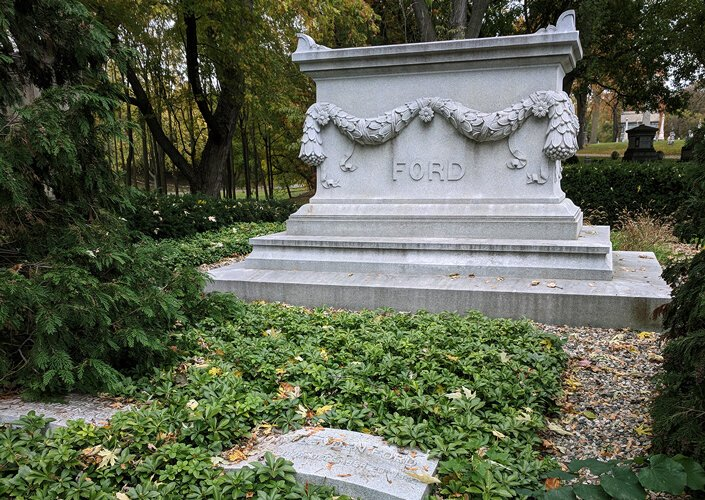 Cemetery tours by Preservation Detroit feature visits to the final resting place of famous Detroit residents, such as Edsel Ford.