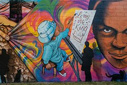 "Fel'le's ""King LeRoy"" mural in Live6"
