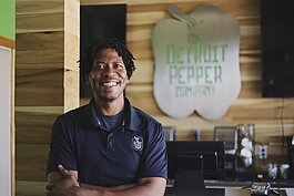Marlin Hughes is the owner of Detroit Pepper Co. on Detroit's east side.