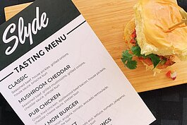 Slyde will preview five different sliders as well as shareables like chicken wings.