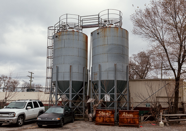 Silos on the Milton Manufacturing grounds are being considered for a water recapture system.