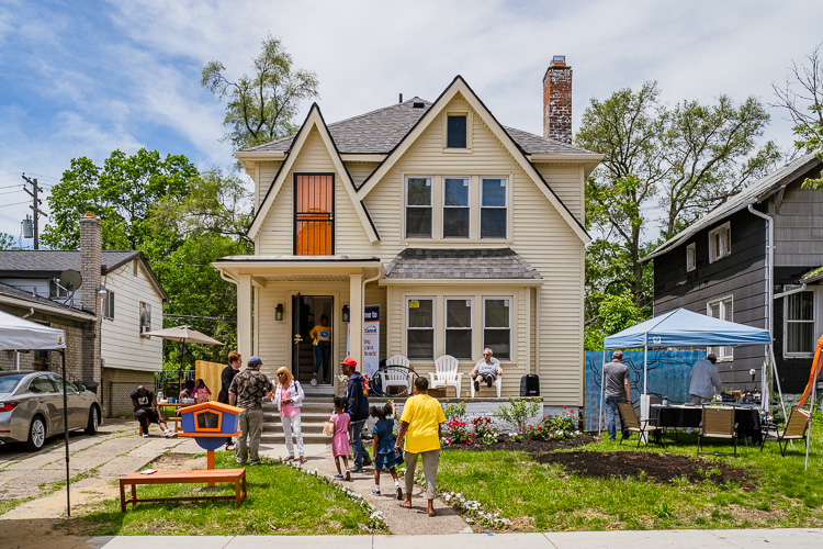 The two-story, 2,892-square-foot home, which dates back to 1926, was transformed from an abandoned house to Fitzgerald's Brilliant Detroit house.