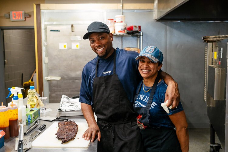 Tito and Monica Dotson co-own T-Mo's BBQ Pit.