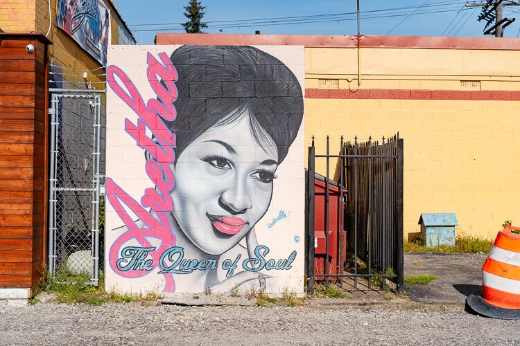 """Aretha: Queen of Soul"" mural by Fel'le"