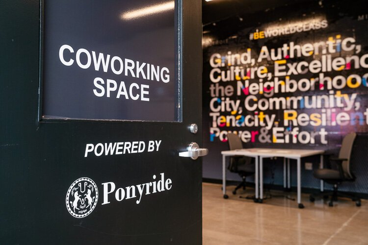 The Ponyride-branded coworking space for the Boys and Girls Clubs of Southeastern Michigan.