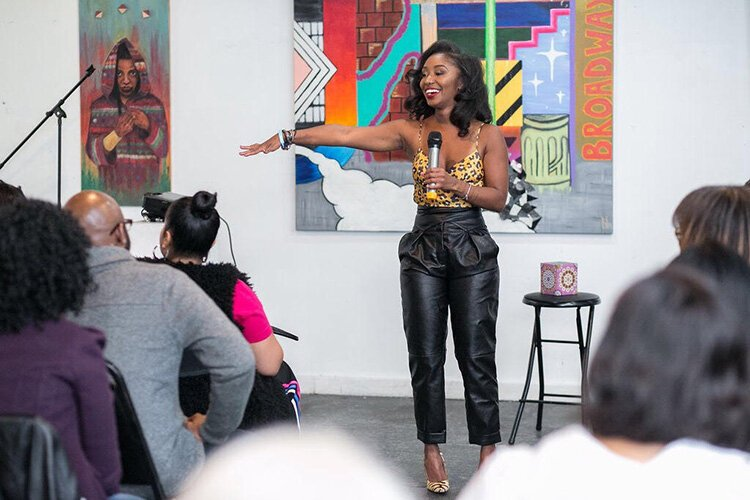 Nik Cole hosts a Speak Easy event in October 2018 at Baltimore Gallery.