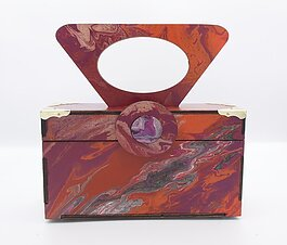 Bags to Butterflies handbags are made from reclaimed wood.