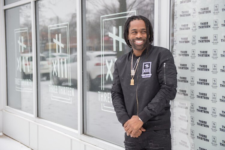 "Clement ""Fame"" Brown, owner of Three Thirteen on the Avenue of Fashion"