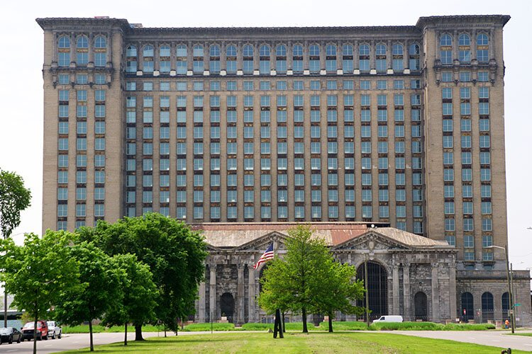 The Michigan Central Station is the centerpiece of Ford's plans for a mobility innovation district in Corktown.