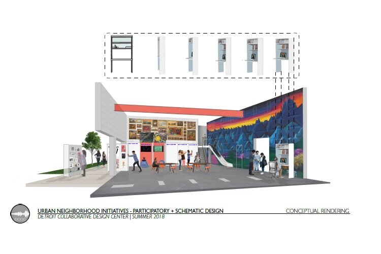 A rendering of UNI's planned youth hub.