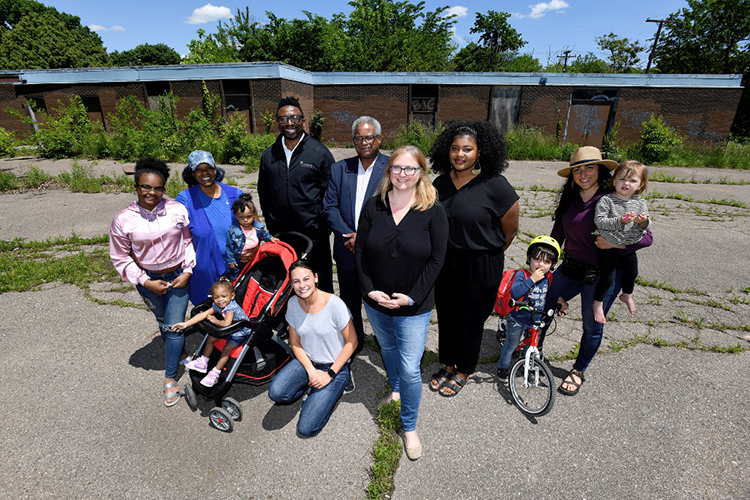 Kresge Foundation KIP:D grant recipients Woodbridge Neighborhood Development Corporation will reactivate an abandoned elementary school into a neighborhood hub and center for resident engagement in Woodbridge.