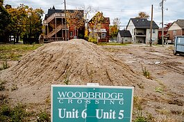 Dirt piles up at the Woodbridge Crossing development at Lincoln and Calumet.