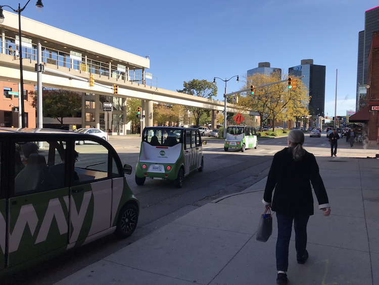 Ann Arbor's May Mobility is a startup that develops autonomous electric shuttles.