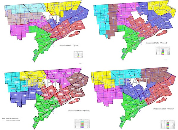 Detroit political district drafts