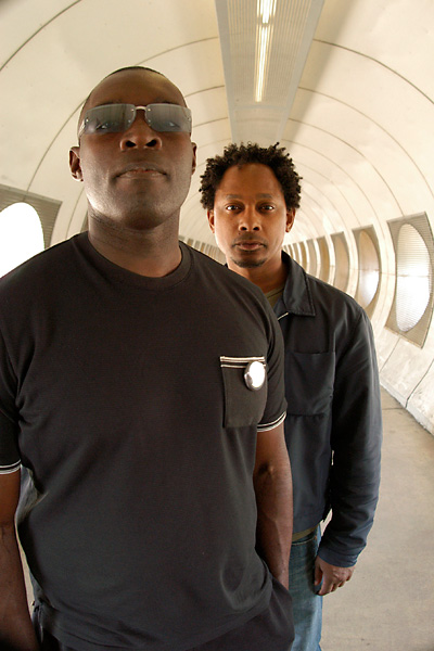 Kevin Saunderson (left) and Derrick May