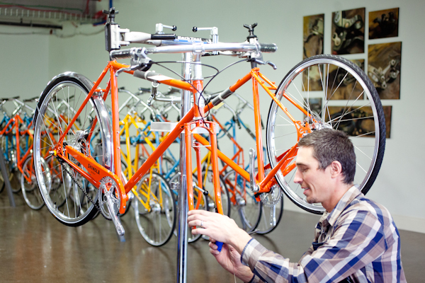 Shinola bike assembly