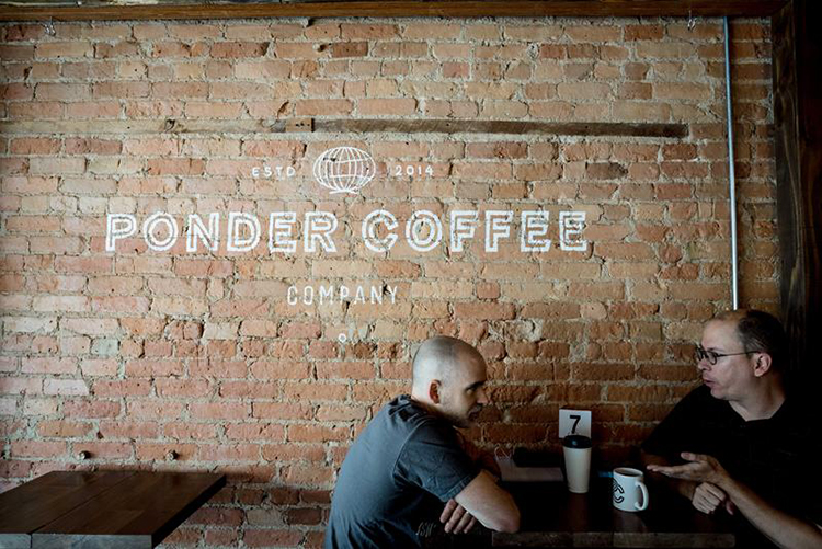 Ponder Coffee. Photo by Phil Eich.