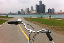 Cycling the Windsor riverfront
