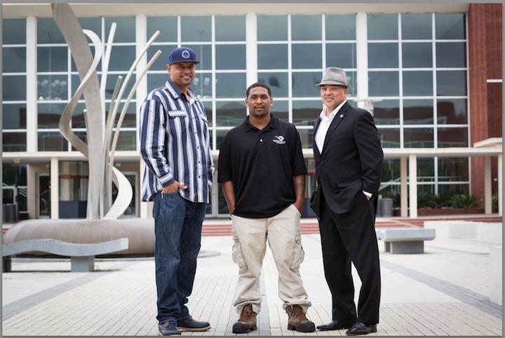 L to R: Sam Vaughn, Neighborhood Change Agent; Rohnell Robinson, Peacemaker Ambassador; and Devone Boggan