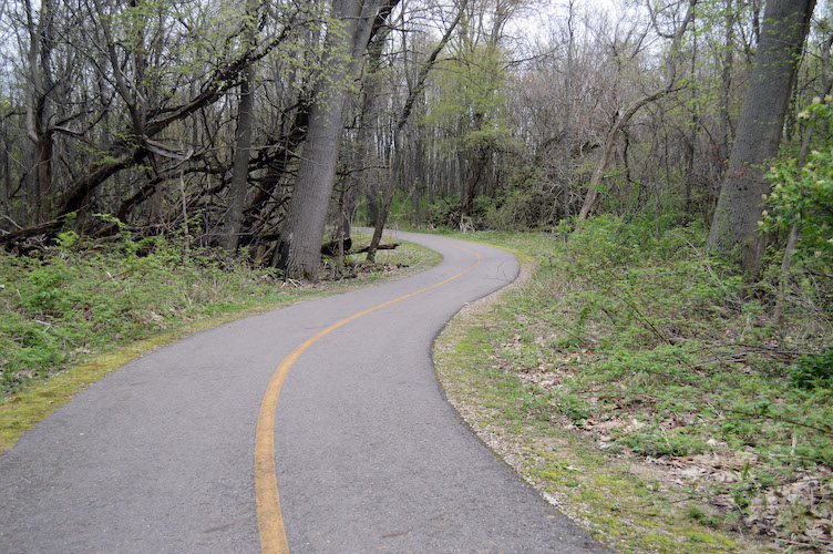 The Kalamazoo River Valley Trail approaching Galesburg from the west. Eventually it will be part of a 275 mile trail network from Lake Michigan to Lake Huron.