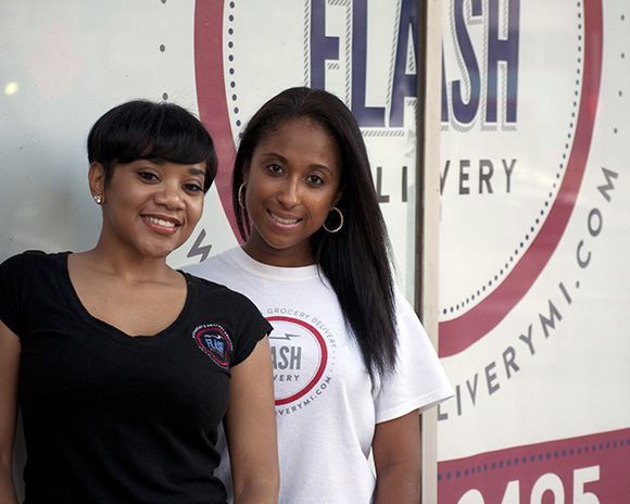 Flash Delivery's Ericka Billingslea and Tatiana Grant