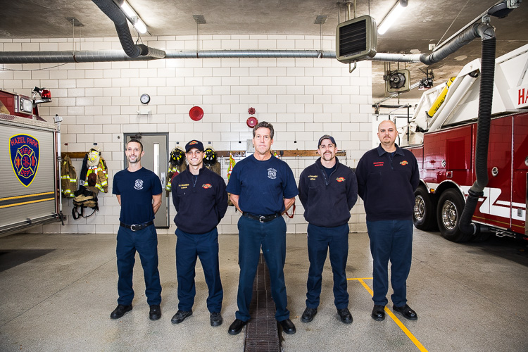 Hazel Park firefighters