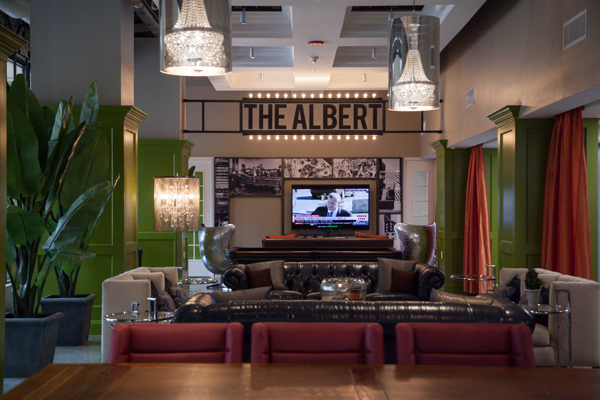 The lobby of The Albert