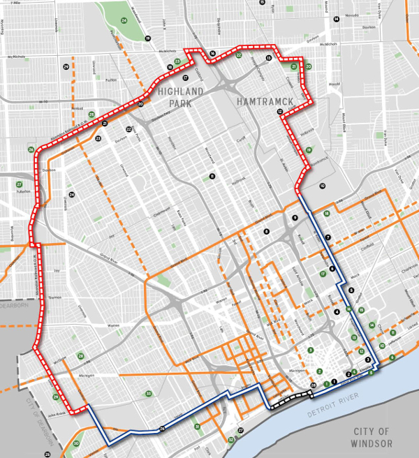 The Inner Circle Greenway route