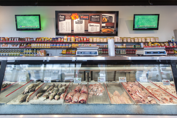 Inside the Fresh Fish House on 8 Mile Road