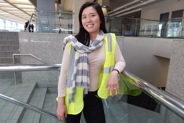 Sandra Yu Stahl of Detroiters Working for Environmental Justice at Cobo Center