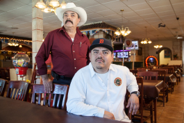 Alvaro and Mr. Padilla, Nacimiento Restaurant
