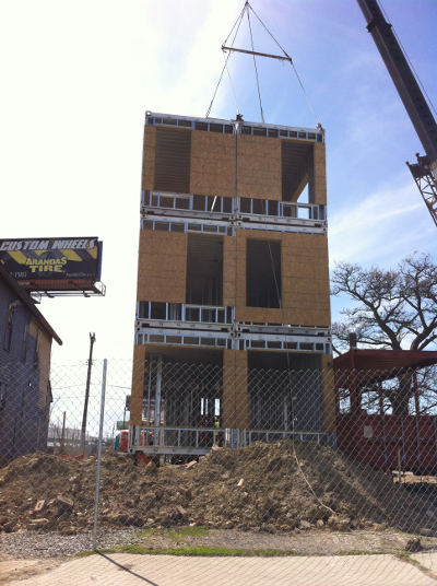 Shipping container development in Corktown