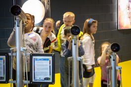 Kids at the Michigan Science Center